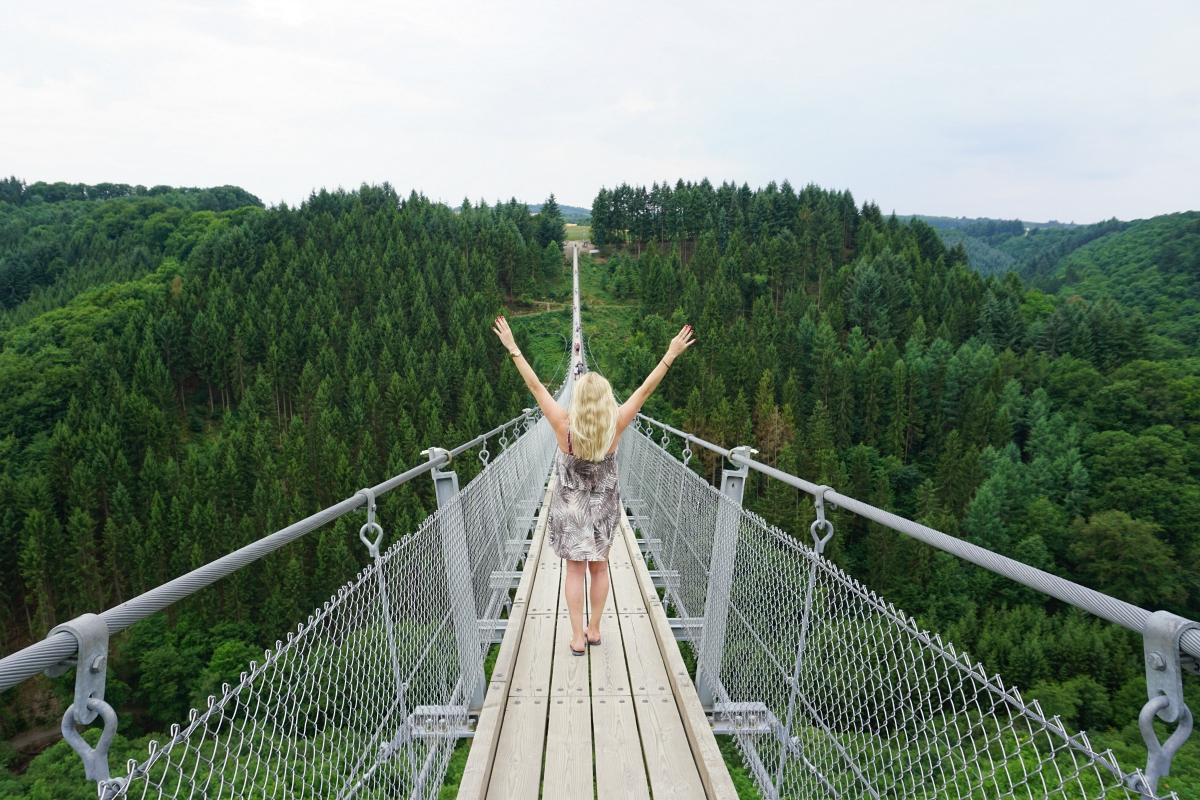 Geierlay suspension bridge Germany, The Geierlay, the longest suspension bridge in Germany